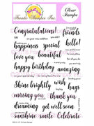 Frantic Stamper Clear Stamp - Set - Bold Everyday Sentiments