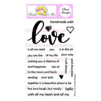Frantic Stamper Clear Stamp - Set - Giant Love