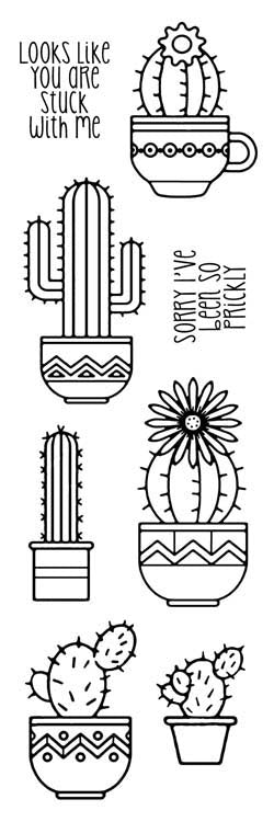 Woodware Clear Stamps - Succulents