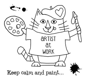 Woodware Clear Stamps - Van Cat