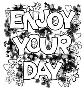 Woodware Clear Stamps - Enjoy Your Day