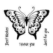 Woodware Clear Stamps - Pretty Flutterby