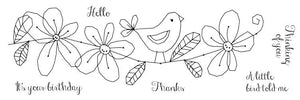 Woodware Clear Stamps - Little Bird
