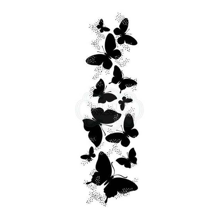 Woodware Clear Stamps - Butterfly Cascade