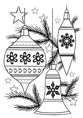 Woodware Clear Stamps - Classic Baubles