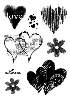 Woodware Clear Stamps - Heart Collection