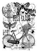 Woodware Clear Stamps - Bicycle Collage
