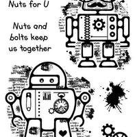 Woodware Clear Stamps - Rusty Robots