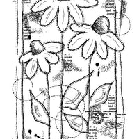 Woodware Clear Stamps - Sketched Daisies
