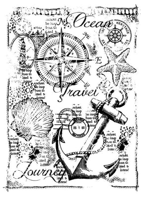Woodware Clear Stamps - Nautical Collage