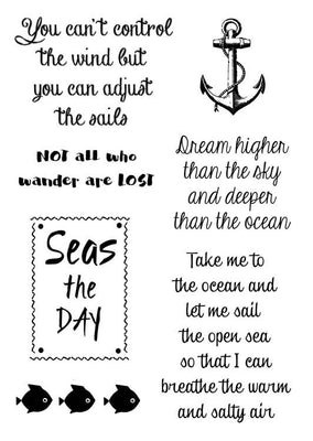 Woodware Clear Stamps - Nautical Sayings