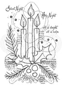 Woodware Clear Stamps - Three Candles