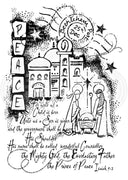 Woodware Clear Stamps - The Nativity Story
