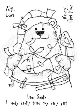 Woodware Clear Stamps - Sticky Bear