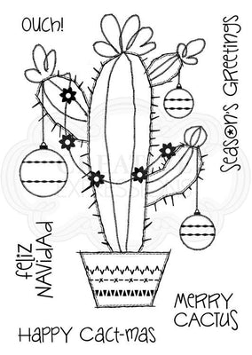 Woodware Clear Stamps - Merry Cactus