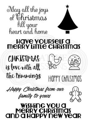 Woodware Clear Stamps - Christmas Wordery