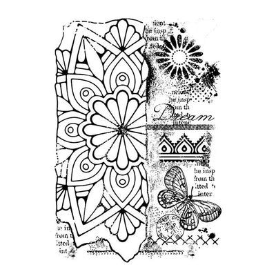 Woodware Clear Stamps - Broken Tile