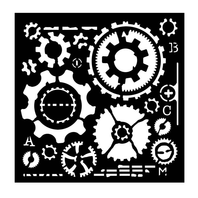 Woodware Stencils -  Cogs
