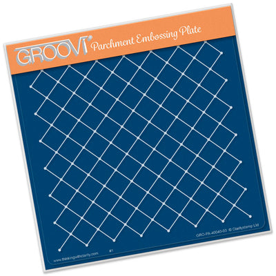 Netting Pattern A5 Square Plate