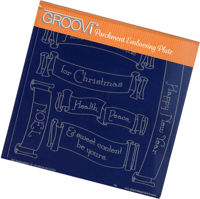 GROOVI Christmas Banners Plate A5 Square