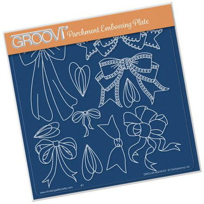 GROOVI Ribbons & Bows Plate A5 Square