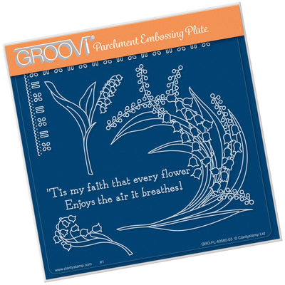 Groovi Template - Lily of the Valley