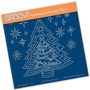 Groovi Template - During This Christmas Verse 1 Tree A5 Square