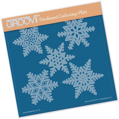 Groovi Large Snowflakes A5 Sq Plate