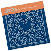 Groovi Plate - Tina's Heart Flowers A6 Sq