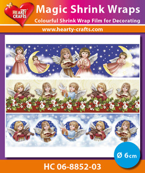Hearty Crafts Magic Shrink Wraps. Angels 6 cm