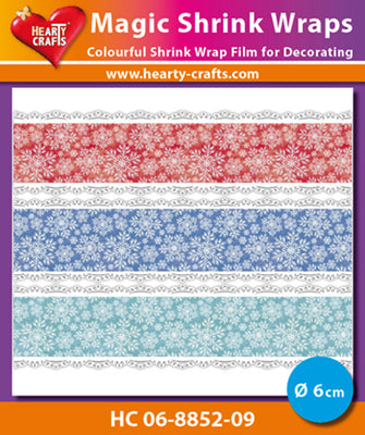 Hearty Crafts Magic Shrink Wraps. Snow Crystals (6cm)
