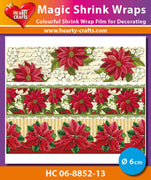 Hearty Crafts Magic Shrink Wraps. Poinsettia (6cm)