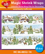 Hearty Crafts Magic Shrink Wraps. Winter Village (6cm)