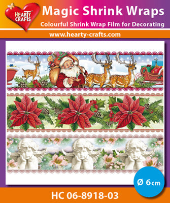 Hearty Crafts Magic Shrink Wraps. Christmas (6cm)