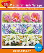Hearty Crafts Magic Shrink Wraps. Painted Flowers (6cm)