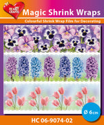 Hearty Crafts Magic Shrink Wraps. Spring Flowers (6cm)