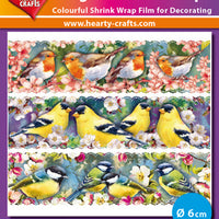 Hearty Crafts Magic Shrink Wraps. Birds Branch (6cm)