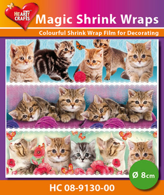 Hearty Crafts Magic Shrink Wraps. Kittens  (8cm)