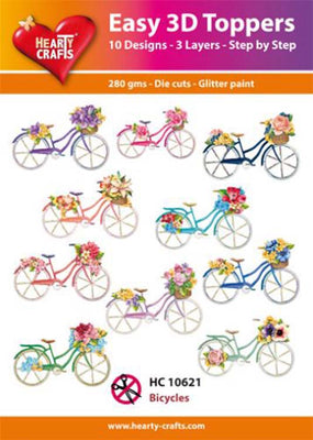 Hearty Crafts Easy 3D Toppers - Bicycles