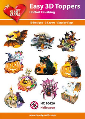 Hearty Crafts Easy 3D Toppers - Halloween
