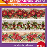 Hearty Crafts Magic Shrink Wraps. X-mas Flowers  (10cm)