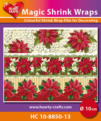 Hearty Crafts Magic Shrink Wraps. X-mas Stars  (10cm)