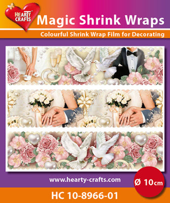 Hearty Crafts Magic Shrink Wraps. Wedding (10cm)
