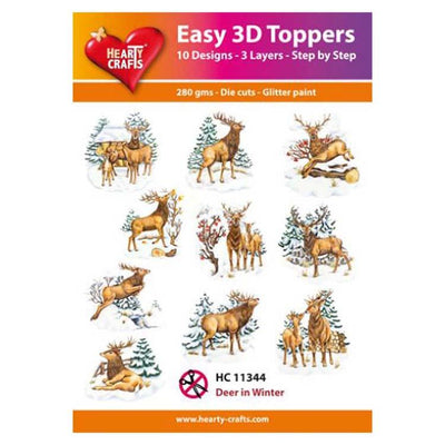 Hearty Crafts Easy 3D Toppers  - Deer In The Window