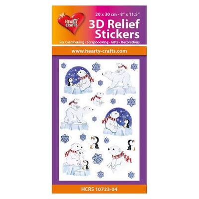 Hearty Crafts 3D Relief Stickers - Polar Bears A4