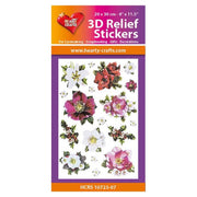 Hearty Crafts 3D Relief Stickers - Winter Flowers A4