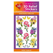 Hearty Crafts 3D Relief Stickers - Flowers A4