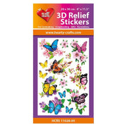 Hearty Crafts 3D Relief Stickers - Butterflies A4