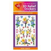 Hearty Crafts Hearty Relief Stickers - Spring Flowers A4