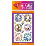 Hearty Crafts Hearty Relief Stickers - Spring Wreaths A5